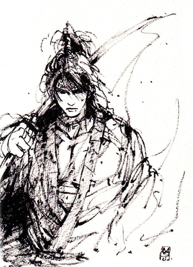 Samurai Ink sketch by MyCKs