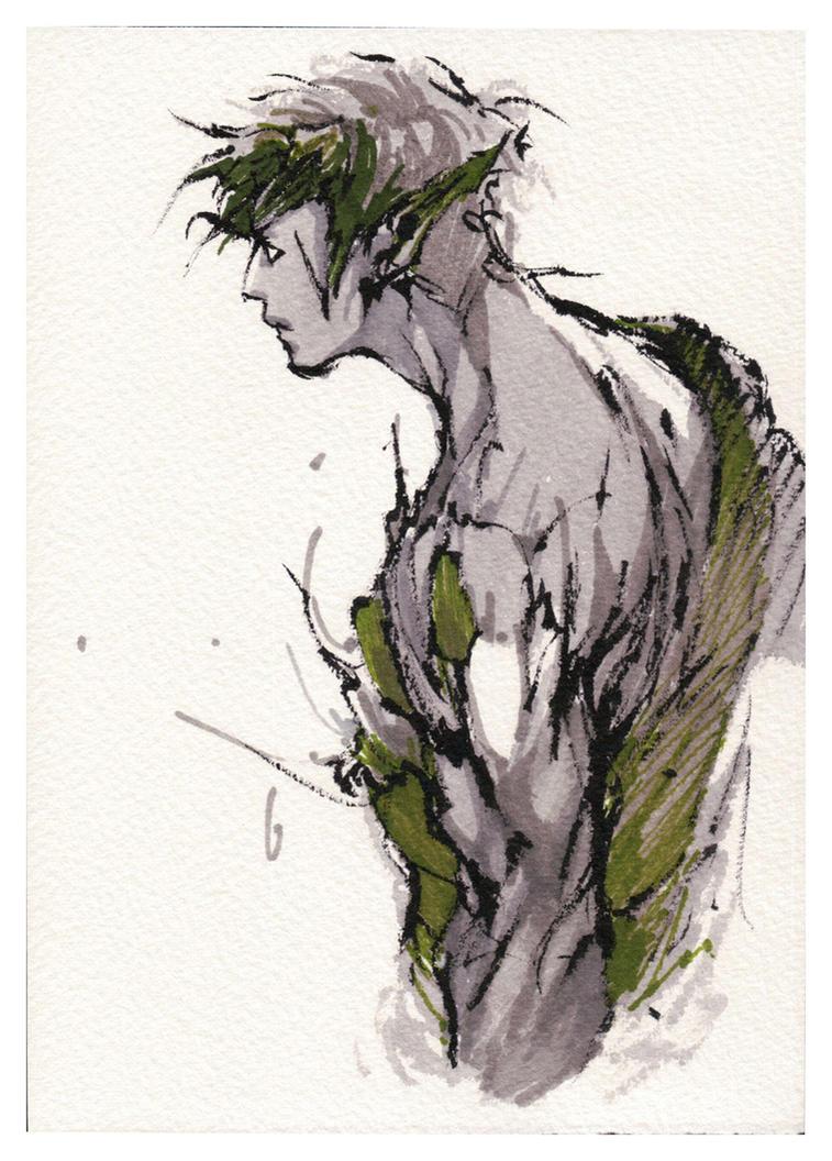 ink and marker sketch by MyCKs
