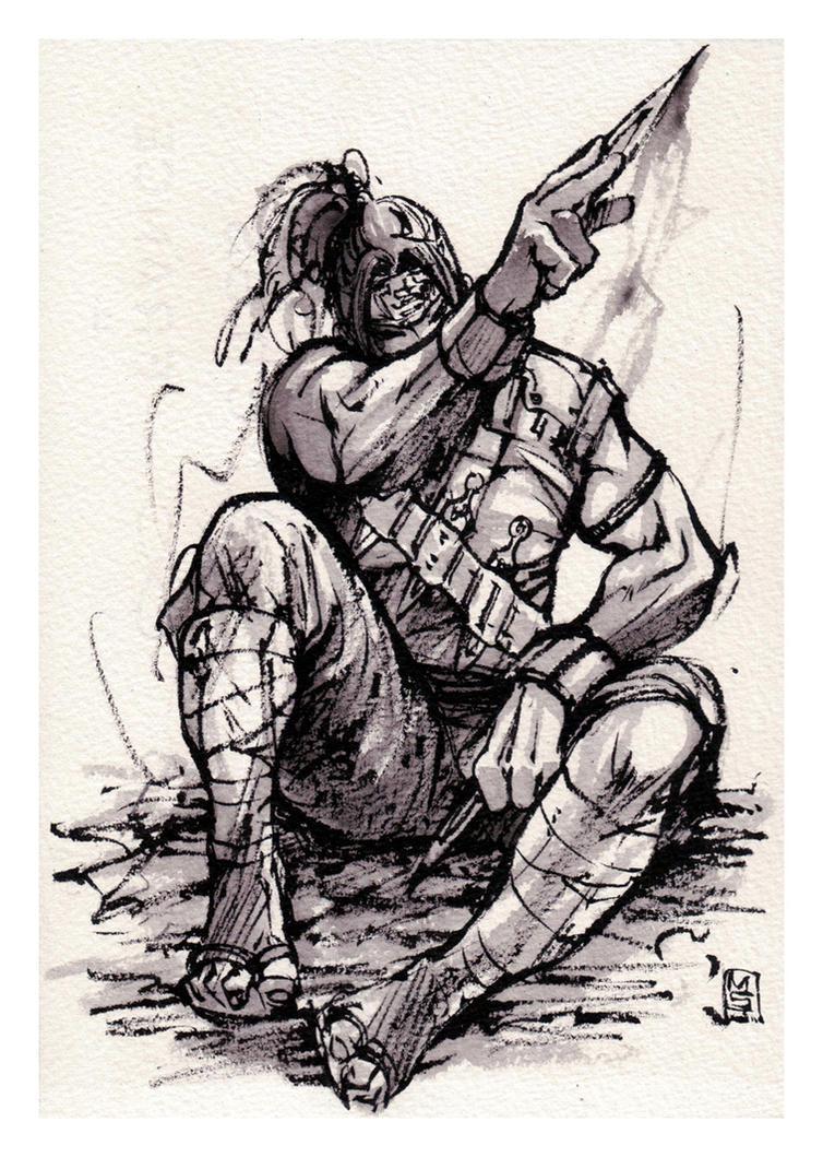 Ninja ink sketch by MyCKs