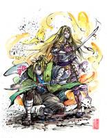 Samurai Link and Zelda together by MyCKs