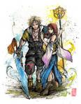 Final Fantasy Tidus and Yuna