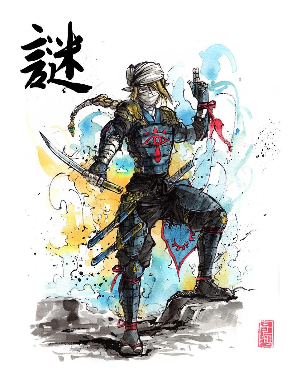 Sheik Samurai/Ninja Version by MyCKs on DeviantArt