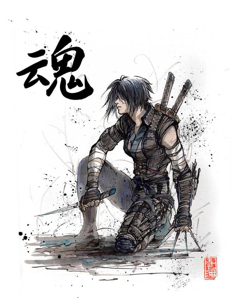 Character Design College Major : Motoko kusanagi from ghost in the shell ninja by mycks