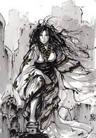 Yennefer in Kimono sumi ink by MyCKs