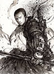 Chirrut from Rogue One Sumi ink