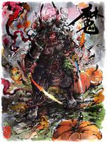 Halloween haunted Samurai style by MyCKs