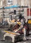 Blacksmith for Samurai card game by MyCKs