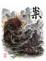 Sword Eater with Samurai Duo by MyCKs