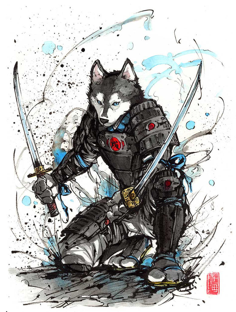 Year of the Dog 2018...samurai by MyCKs