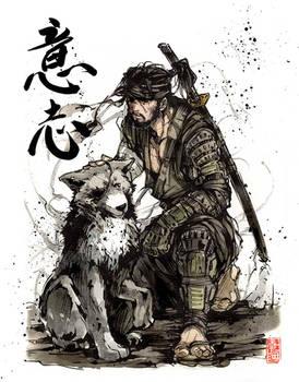 Big Boss....Samurai! with calligraphy