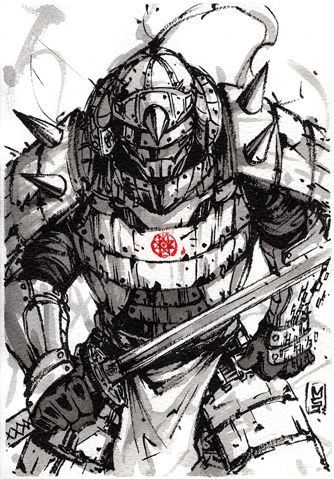 how to draw anime samurai armor