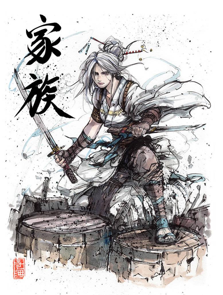 Ciri...samurai! by MyCKs