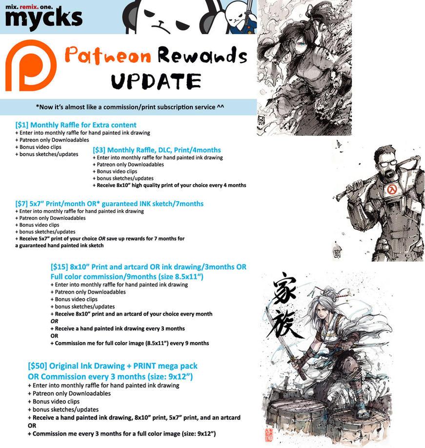 Updated Patreon Rewards ^^ by MyCKs