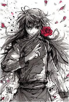 Kurama Ink sketch from Yu Yu Hakusho