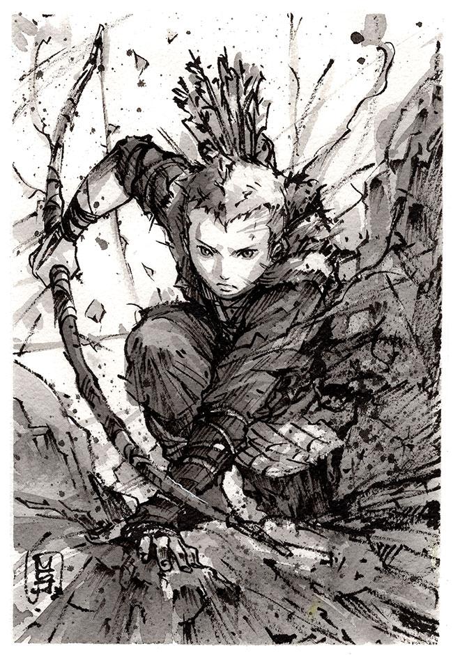 Atreus Ink Sketch by MyCKs