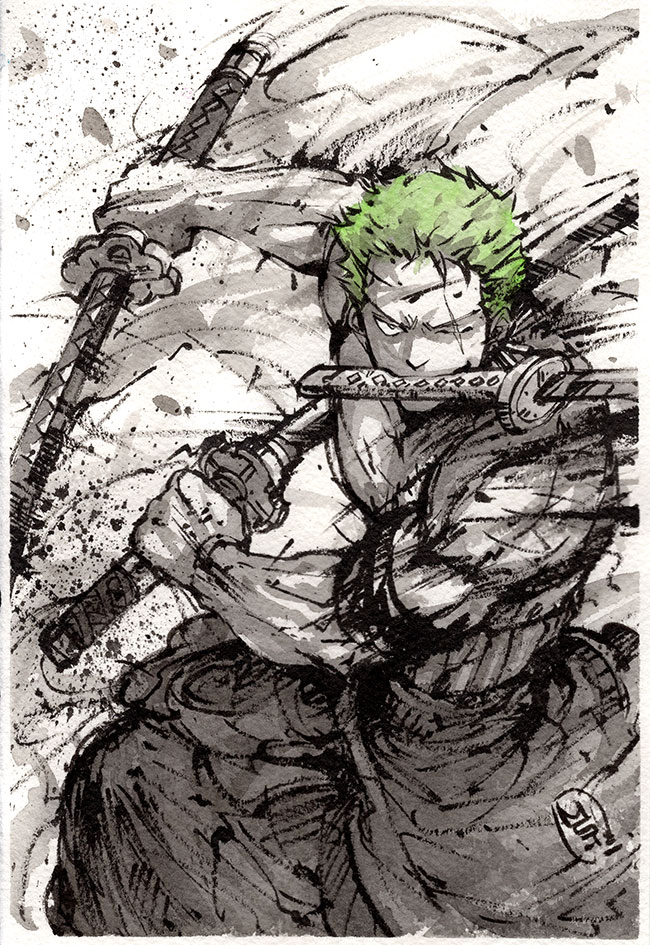 Zoro sumi art by MyCKs