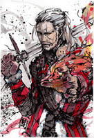 Geralt of Rivia, cheering up for holiday: giveaway by MyCKs