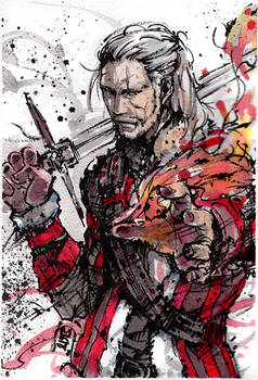Geralt of Rivia, cheering up for holiday: giveaway