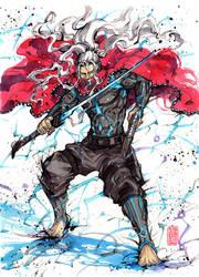 FURI sumi and watercolor by MyCKs