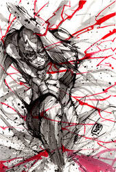 Flash ink sketch