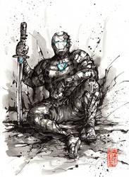 Iron man samurai inktober version
