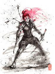 Black Widow ninja inktober