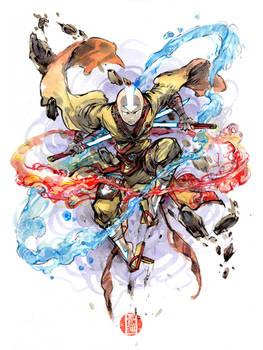 Samurai Avatar state watercolor