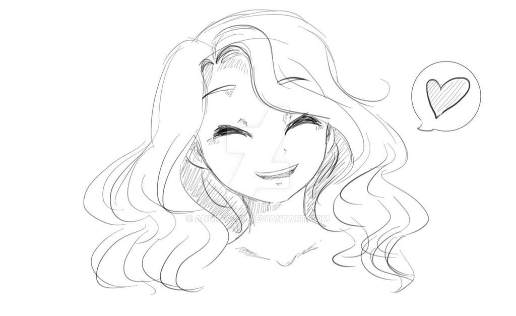 messy bun drawing tumblr