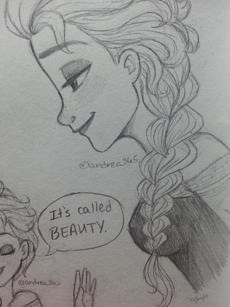 Elsa (side view) by Andrea365 on DeviantArt