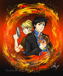 Day 09: Roy Mustang and Riza Hawkeye by Andrea365