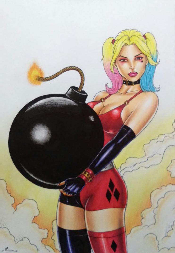 Harley Quinn by sidneydesenhus