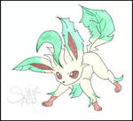 Fighting Leafeon, colored