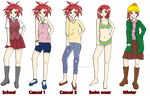 Ayame: Outfit Reference by SulfuricAcid