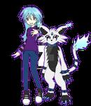 Digimon Academy: Shiver + Abbasmon by SulfuricAcid