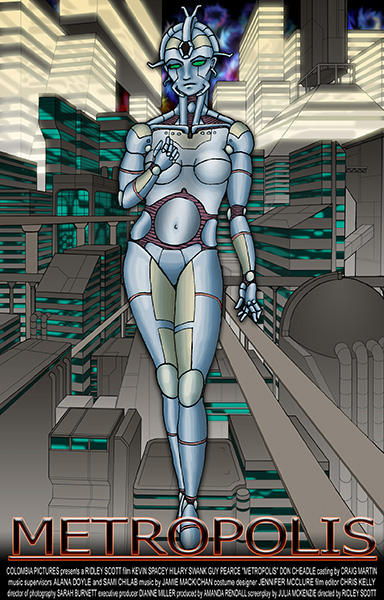 Metropolis Movie Poster by MrTake