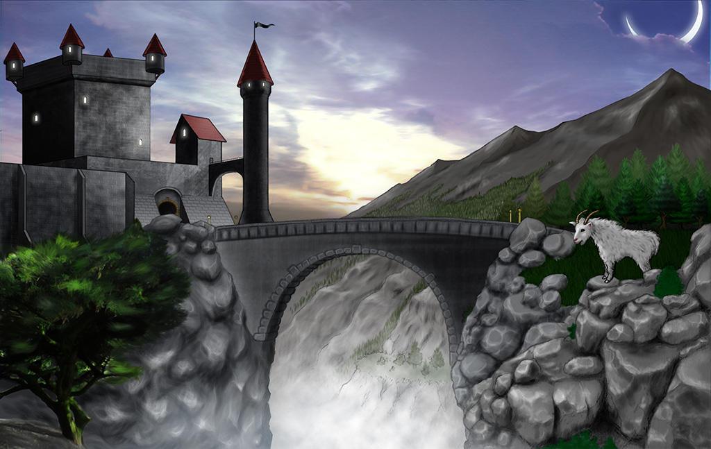 Mountain Goat at the Bridge by MrTake