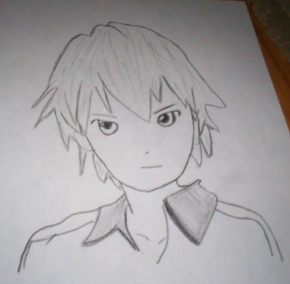 Anime Boy Drawing by