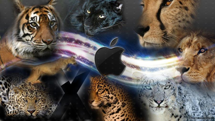 Mac OS X Cats Background by charmanderfan7
