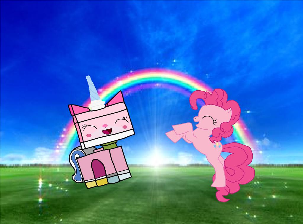 Pinkie pie and Unikitty by pikachuandpichu106Unikitty Pinkie Pie