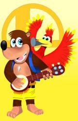 Banjo-Kazooie in smash by pikachuandpichu106