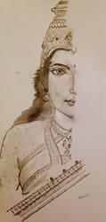 Veena Vadini Sharde (Maa Saraswati) by Sadharanart