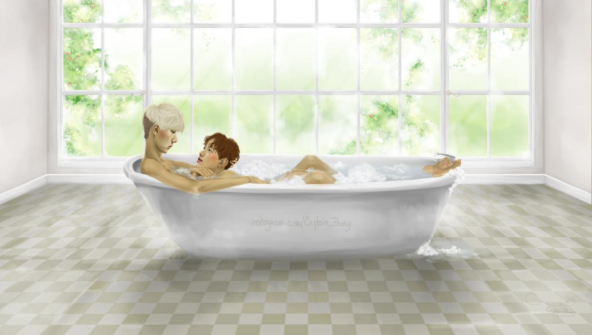 On simple days - Exo Sebaek fanart by 11Pooky11