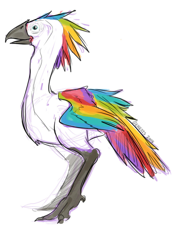 Rainbow Crested Moa by Genesis199