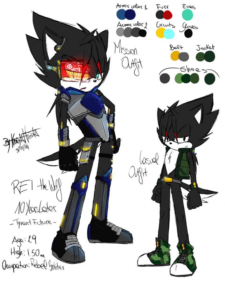 [10YL - TyrantFuture] Rei the Wolf 2 by KnightNicole