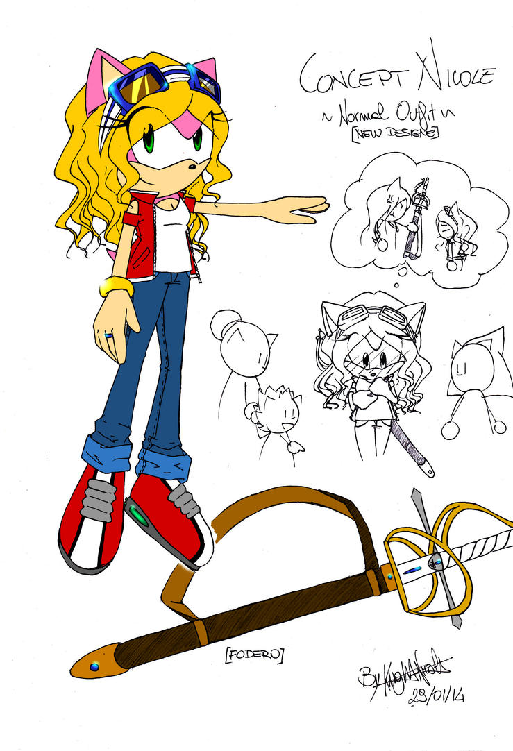 Nicole the Hedgehog [casual outfit ] by KnightNicole