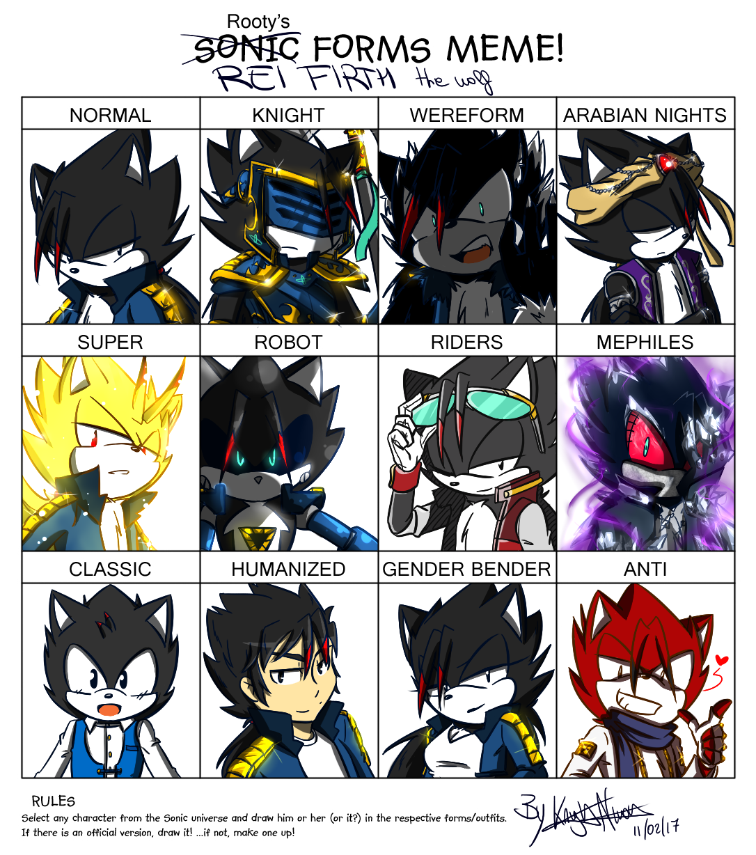 Sonic Forms: Rei Firth By KnightNicole On DeviantArt
