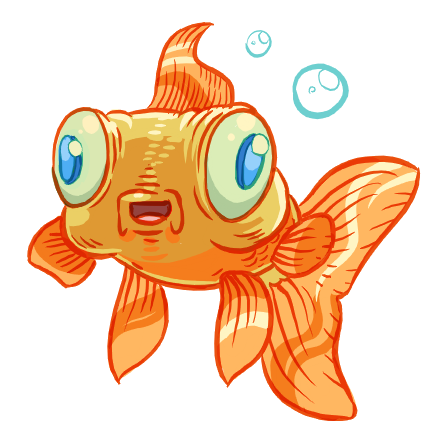 happy goldfish by poj5
