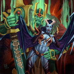 Wraith King and Queen of Pain