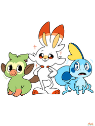Gen 8 starters by Sharpuppeteeth