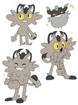 Some Galarian Meowths And A Perrserker